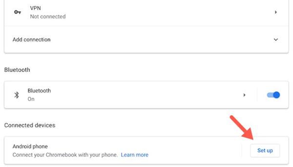 ChọnSet upbên cạnh tùy chọnAndroid Phone.