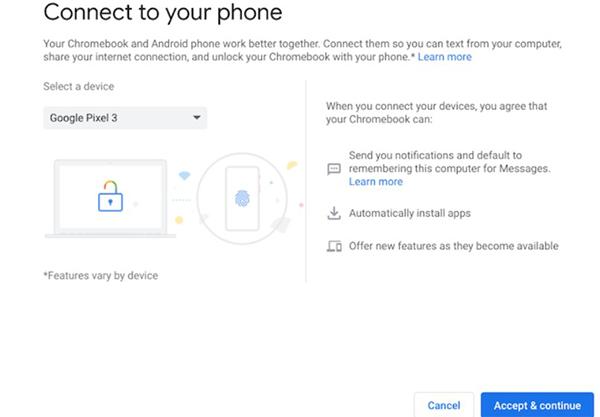 chọn điện thoại Android của bạn từSelect A Device.